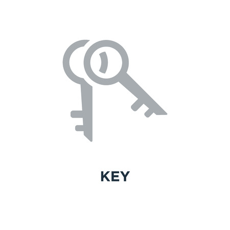 key icon. key . protection and security concept symbol design, lock vector illustration Stock Illustratie