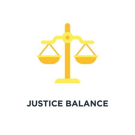 justice balance icon. balance scale, judge law concept concept symbol design, vector illustration