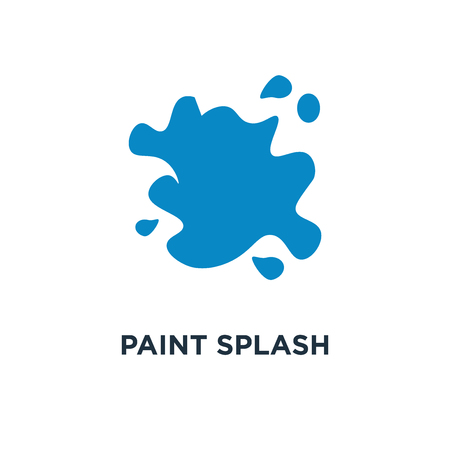 paint splash icon. ink splatter concept symbol design, vector illustration