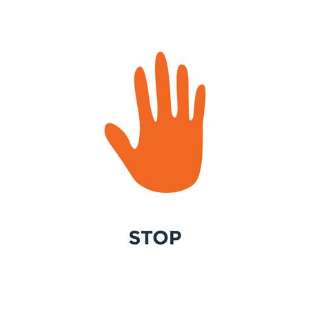 Stopbord pictogram. hand symbool conceptontwerp, menselijke silhouet vectorillustratie Stockfoto - 109719669
