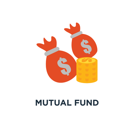 mutual fund icon. financial performance, budget planning, income growth concept symbol design, statistic report, income increase, return on investment, finance consolidation vector illustration