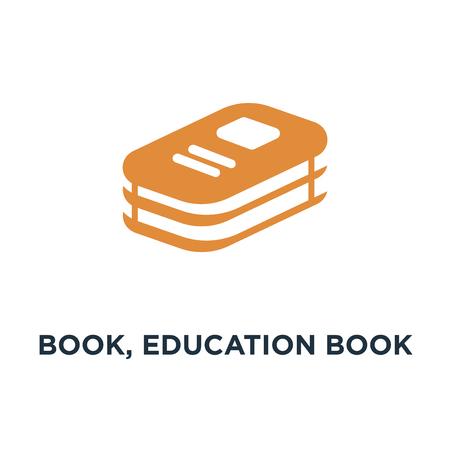 book, education book icon. book library, education concept symbol design, vector illustration