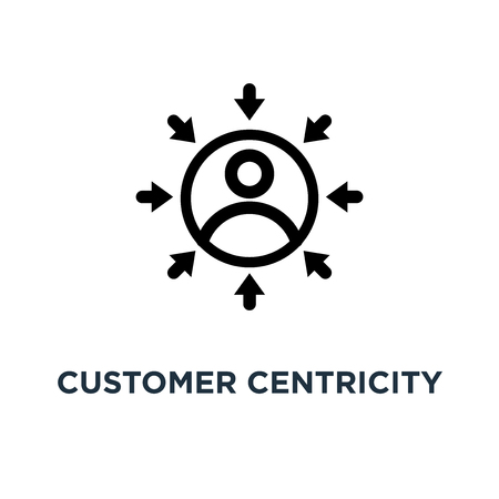 customer centricity icon. customer centricity concept symbol design, vector illustration