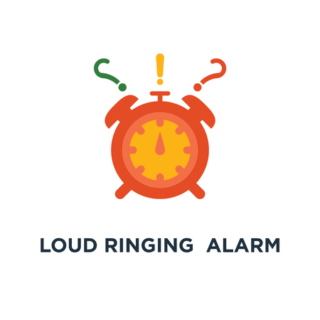 loud ringing red alarm clock in motion icon. deadline, urgent delivery, task management, intensive course concept symbol design, last minute chance, time period ending, limited offer, fast service vector illustration