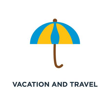 vacation and travel concept icon. beach umbrella concept symbol design, vector illustration Illustration