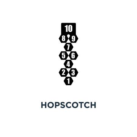 hopscotch icon. hopscotch concept symbol design, vector illustration