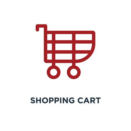 shopping cart icon. shopping cart concept symbol design, vector illustration