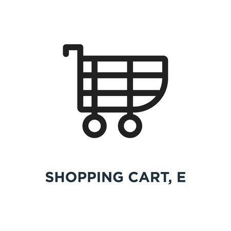 shopping cart, e icon. commerce concept symbol design, vector illustration
