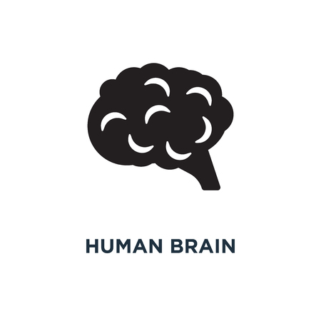 Human brain icon. Simple element illustration. Human brain concept symbol design, vector logo illustration. Can be used for web and mobile. 일러스트