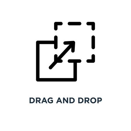 drag and drop icon. drag and drop concept symbol design, vector illustration
