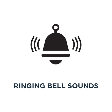 Ringing bell sounds icon. Simple element illustration. Ringing bell sounds concept symbol design, vector logo illustration. Can be used for web and mobile.