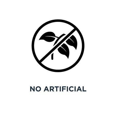 no artificial flavours icon. no artificial flavours concept symbol design, vector illustration Stock Illustratie