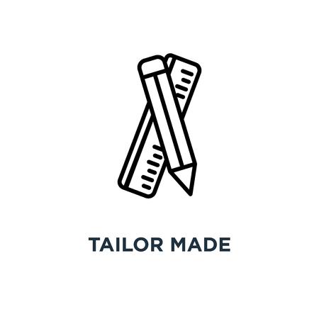 icône sur mesure. conception de symbole concept sur mesure, illustration vectorielle