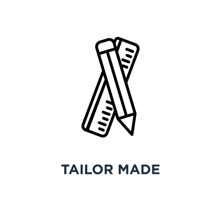 tailor made icon. tailor made concept symbol design, vector illustration