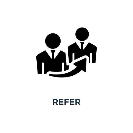 refer icon. refer concept symbol design, vector illustration
