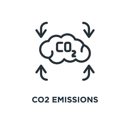 co2 emissions icon. co2 emissions concept symbol design, vector illustration