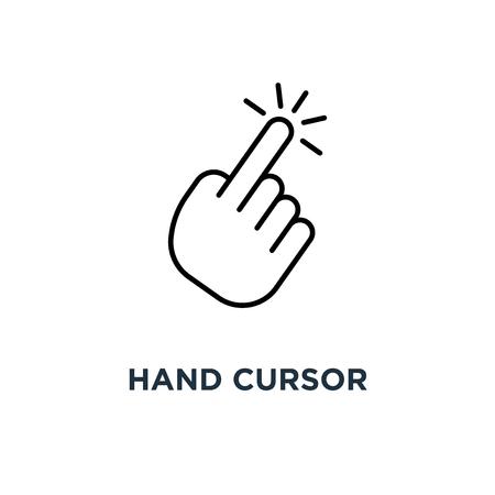 hand cursor icon. clicking pointer concept symbol design, vector illustration Stock Illustratie