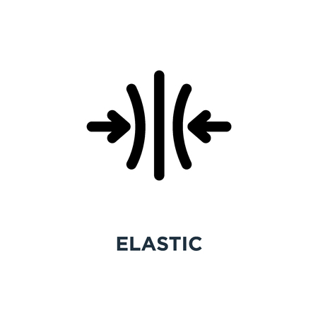 elastic icon. elastic concept symbol design, vector illustration Çizim