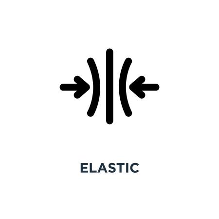 elastisches Symbol. elastisches Konzeptsymbolentwurf, Vektorillustration