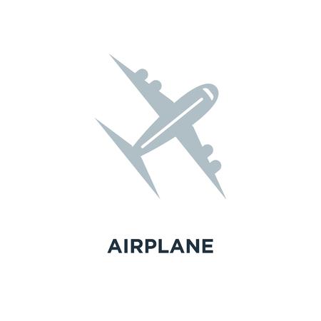 airplane icon. travel concept symbol design, fly flight, plane vector illustration