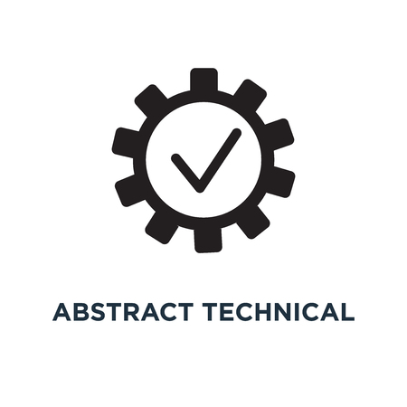 Abstract technical icon. Simple element illustration. Abstract technical concept symbol design, vector logo illustration. Can be used for web and mobile. Illustration