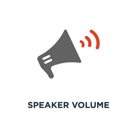 speaker volume icon. audio voice sound , media music concept symbol design, megaphone vector illustration Stock Illustratie