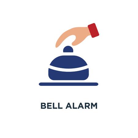 bell alarm icon. sound concept symbol design, vector illustration