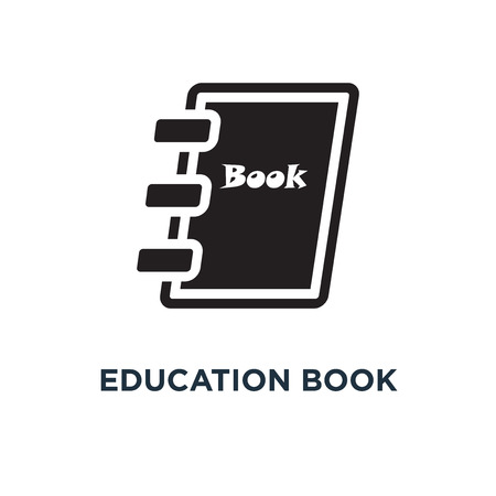 education book icon. learning book . school library concept symbol design, vector illustration