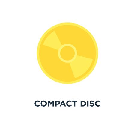 compact disc icon. music, dvd or cd storage concept symbol design, vector illustration
