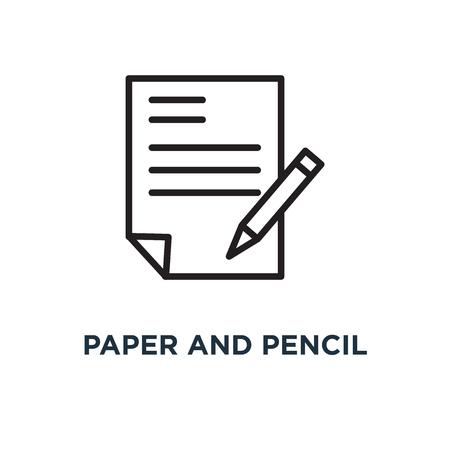 Papier en potlood pictogram. papier en potlood symbool conceptontwerp, vectorillustratie Stockfoto - 109719695