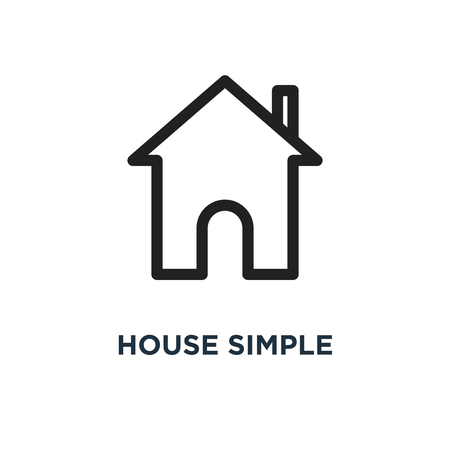 house simple icon. house simple concept symbol design, vector illustration