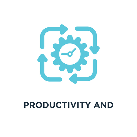 productivity and efficiency icon. productivity and efficiency concept symbol design, vector illustration