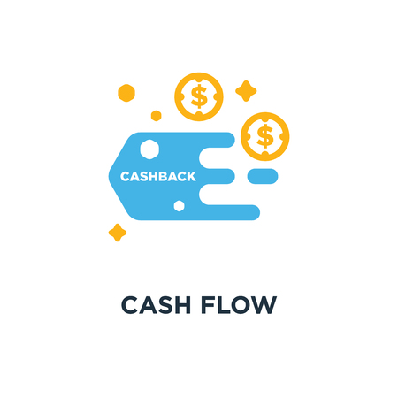cash flow icon. funds concept symbol design, costs optimization vector illustration