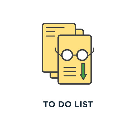 to do list (checklist) outline infographic, of completed or scheduling tasks, clipboard with pencil, premium quality for website icon, symbol of apps, concept mobile websites