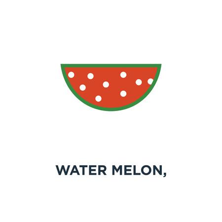 Watermeloen, watermeloen segment fruit, vers gezond voedsel pictogram. biologische natuurvoeding symbool conceptontwerp, vectorillustratie Stockfoto - 109719709