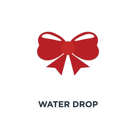 water drop icon, symbol of nature rain concept