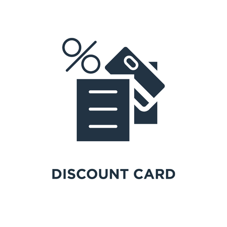 discount card icon. till slip concept symbol design, loyalty program, credit card payment vector illustration Stock Illustratie