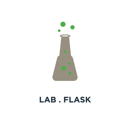 lab . flask icon. science concept symbol design, chemical laboratory research vector illustration