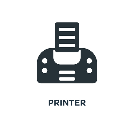 printer icon. print concept symbol design, print paper or document sign vector illustration 矢量图像
