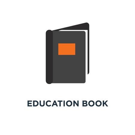 education book icon. library or bookstore concept symbol design, literature vector illustration