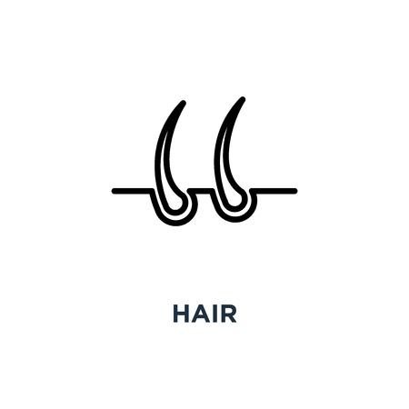 hair icon. hair concept symbol design, vector illustration