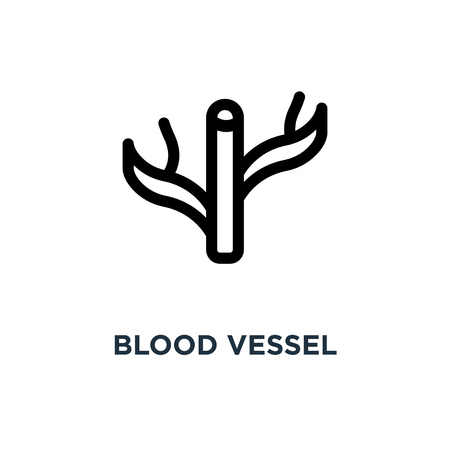 blood vessel icon. blood vessel concept symbol design, vector illustration