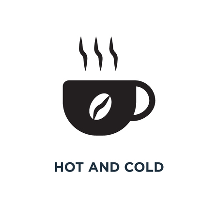 Hot and cold temperature icon. Simple element illustration. Hot and cold temperature concept symbol design, vector logo illustration. Can be used for web and mobile. Illustration