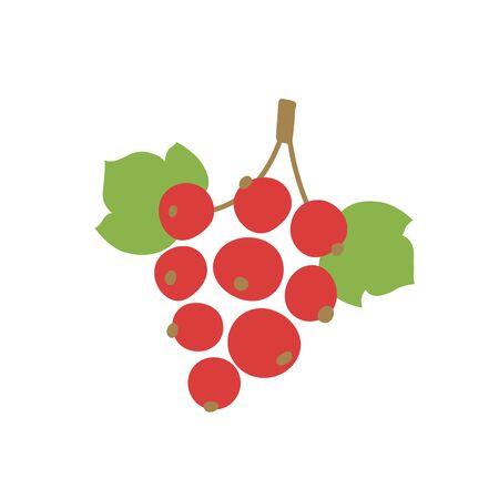 Rote Johannisbeere. Vektor-Beere. Natürliches gesundes Essen. Handgezeichnete Früchte. Veganes Menü. Vegetarismus Vektorgrafik