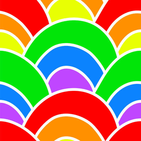 Wave. Colors of rainbow. Seamless pattern. Bright texture. Vector illustration. Wrapping paper. Background