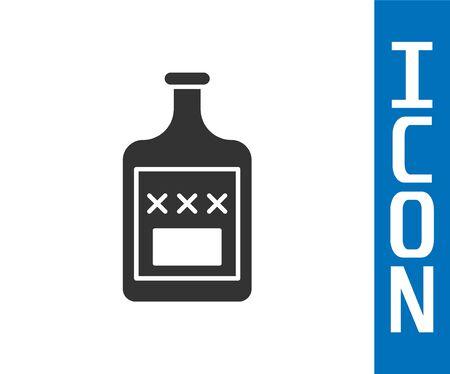 Grey Whiskey bottle icon isolated on white background.  Vector Illustration 向量圖像