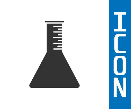 Grey Oil petrol test tube icon isolated on white background. Vector Illustration Stock Illustratie