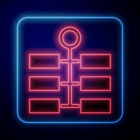 Glowing neon Firework icon isolated on blue background. Concept of fun party. Explosive pyrotechnic symbol. Vector Illustration Vektoros illusztráció