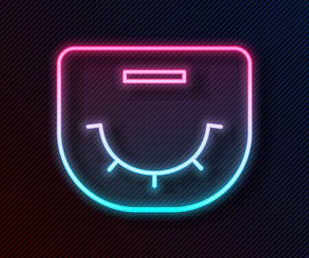Glowing neon line Poker table icon isolated on black background. Vector Illustration
