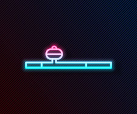 Glowing neon line Opium pipe icon isolated on black background. Vector Illustration